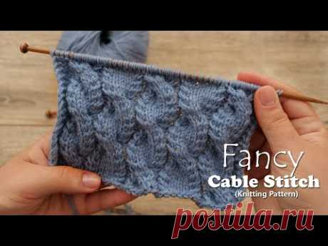 Необычные косы спицами 💤 Fancy Cable Stitch Knitting Pattern