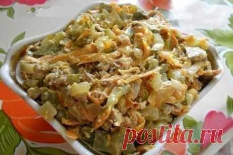 Салат «Обжорка» с говядиной и грецкими орехами, рецепт — Вкусо.ру