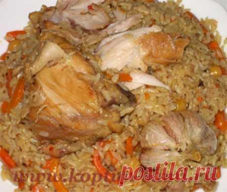 Плов с курицей рецепт, как приготовить плов с курицей, плов из куры