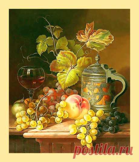 Схема вышивки «Натюрморт с фруктами» - Вышивка крестом