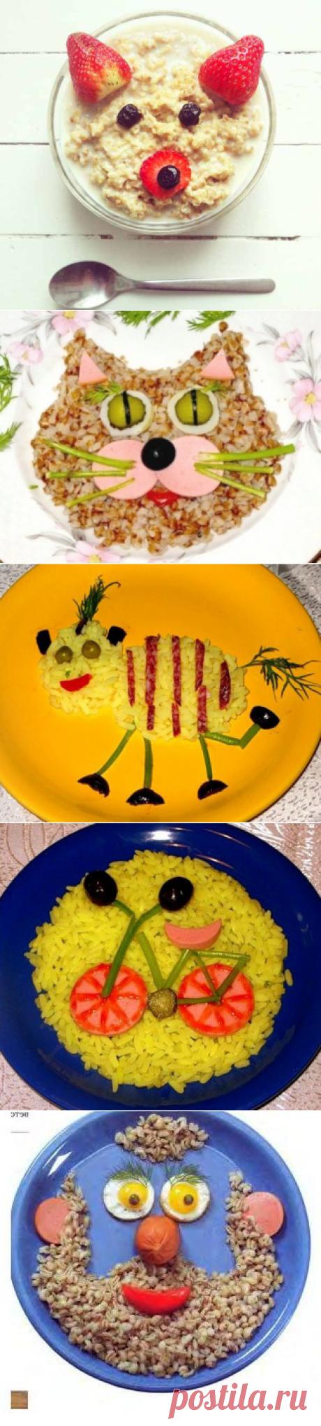Как украсить кашу ребенку, идеи как оформить детские блюда, чтобы ребенок хорошо покушал