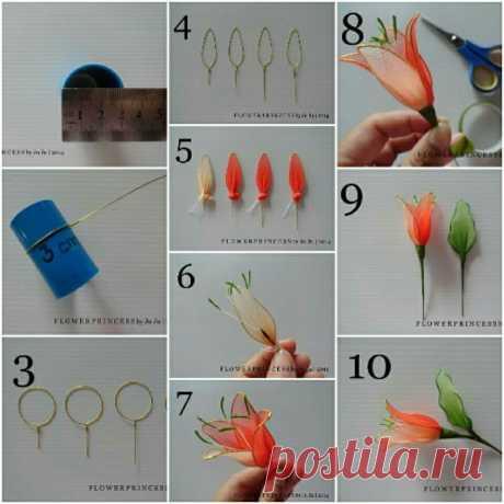 Делаем цветы из капрона — Сделай сам, идеи для творчества - DIY Ideas