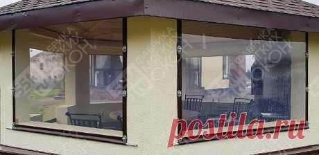 Цены на мягкие окна ПВХ для беседок и веранд в Москве. Цена 1590 руб./м2 — «Фабрика мягких окон 55m.ru»