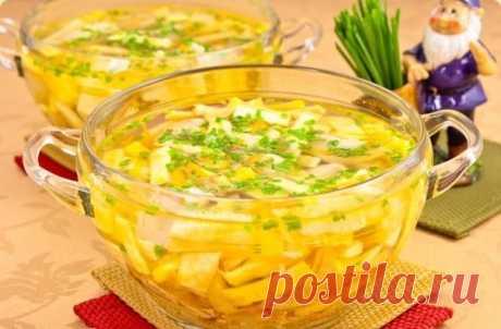 Куриный суп с яичными блинчиками — Sloosh – кулинарные рецепты