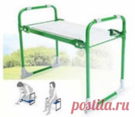 Скамейка-перевертыш садовая складная (стул-подколенник) - усиленная модель