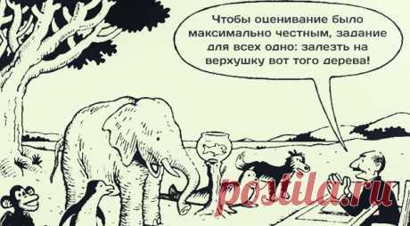 Каждый – гениален. Но если вы будете судить рыбу по её способности лазать по деревьям, она проживет всю жизнь, считая себя дурой. © Альберт Эйнштейн