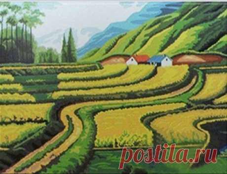 """вАлмазе RU - арт.13049 Алмазная мозаика """"Нидерландский пейзаж"""" [размер 40*50 см.] - 2250 руб. - под заказ"""