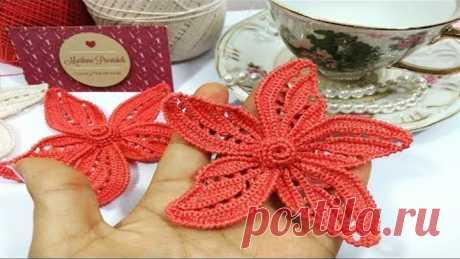 Venha Aprendar a Tecer uma Bela Flor de Crochê Irlandês !!!