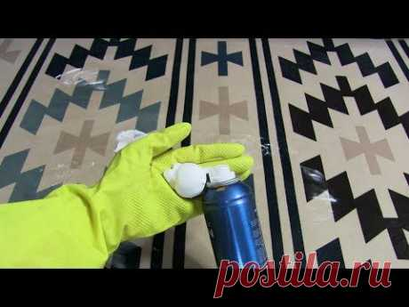 Cunning way to remove spots from a carpet and an upholstery of a sofa - YouTube