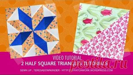 Two techniques to make half square triangles video tutorial