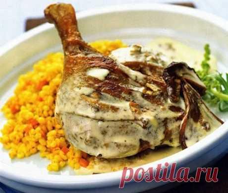 (+2) Новогодняя утка грибы, соус сметанный, перловая каша. Польская еда.