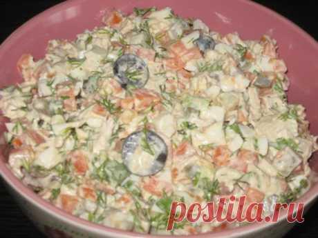 Готовим вкусно - Салат с куриной грудкой