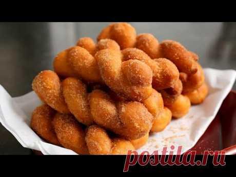 Витые корейские пончики (Kkwabaegi: 꽈배기)