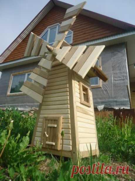 Декоративная мельница: красивое украшение сада своими руками (110 фото)