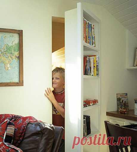 confidential door in the form of the shelf