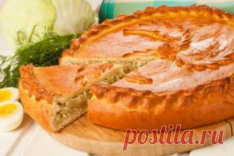 Пирог с капустой рецепт с фото пошаговый