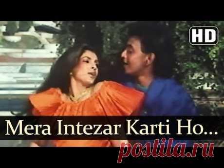 Mera Intezar Karti Ho (HD) - Saazish Songs - Mithun Chakraborty - Dimple Kapadia - Mohd Aziz - YouTube
