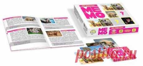 Игра МЕМО «Мир животных» (50 карточек)   Соберите наибольшее число парных карт с одинаковыми изображениями и познакомьтесь с удивитель...
