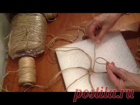 (1) Плетение салфеточки по кругу. Шаг 2 - YouTube
