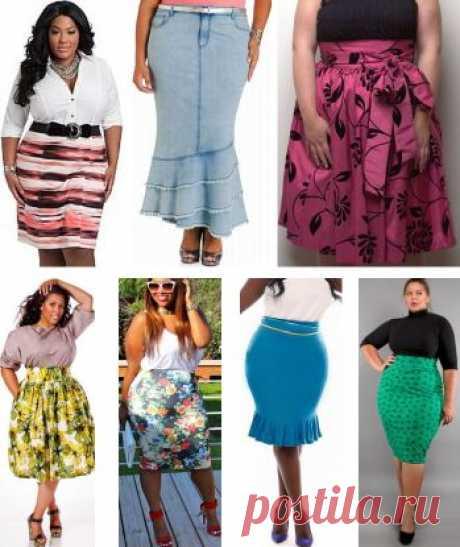 Модные летние юбки 2016 для полных девушек и женщин [фото]