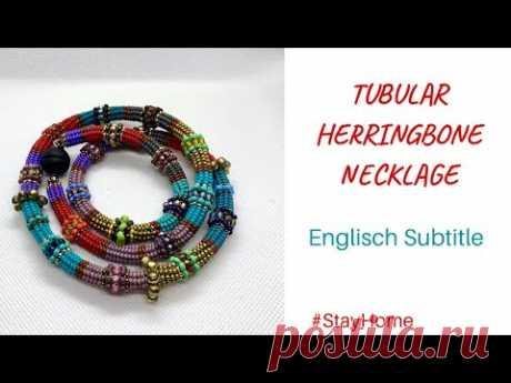Herringbone Tekniği ile Kolye Nasıl Yapılır - Tubular Herringbone Necklace Tutorial - YouTube