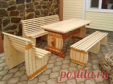 Дачная мебель как вам?