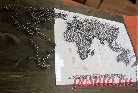 Posts search art the whole world from threads and nails we create the world map in string art gumiabroncs Gallery