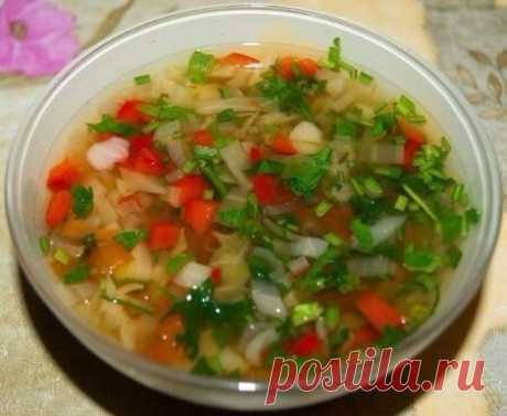 Суп, который улучшает пищеварение, способствует выводу лишней жидкости и хорошо насыщает!