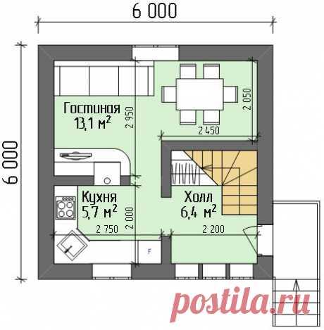 Планировки домов 6 на 6 Планировки садовых и дачных домиков, а также небольших домов для постоянного проживания. Планировки домов с размерами.