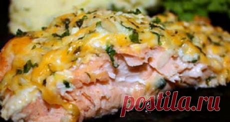 Горбуша новогодняя, запеченная с сыром - Пошаговые рецепты