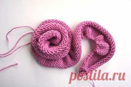 Цветы спицами от ira knittedwear - мк