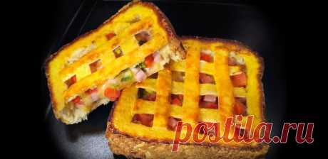 Бутерброды на завтрак. Практически пироги, но только быстрее и проще (жаль, что раньше так не делала). | Алена Митрофанова - рецепты. | Яндекс Дзен