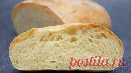 Быстрый хлеб без закваски. Простой рецепт чиабатты.   Евгения Полевская   Это просто   Яндекс Дзен