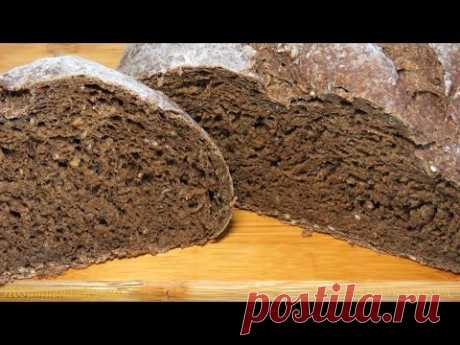 TASTY RYE BREAD black bread the recipe - Rye black BREAD recipe - BÁNH MÌ ĐEN