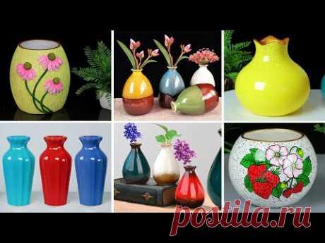 Handmade flower vase Look Like Ceramic flower vase || Cement flower vase - Gypsum flower vase making