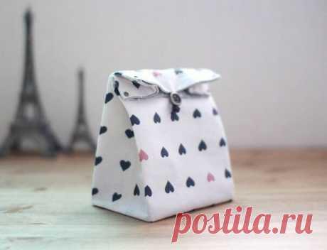 Пакетик из ткани для подарка