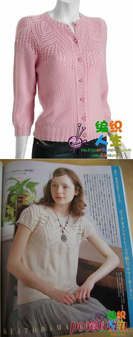 La blusa con la coqueta redonda.