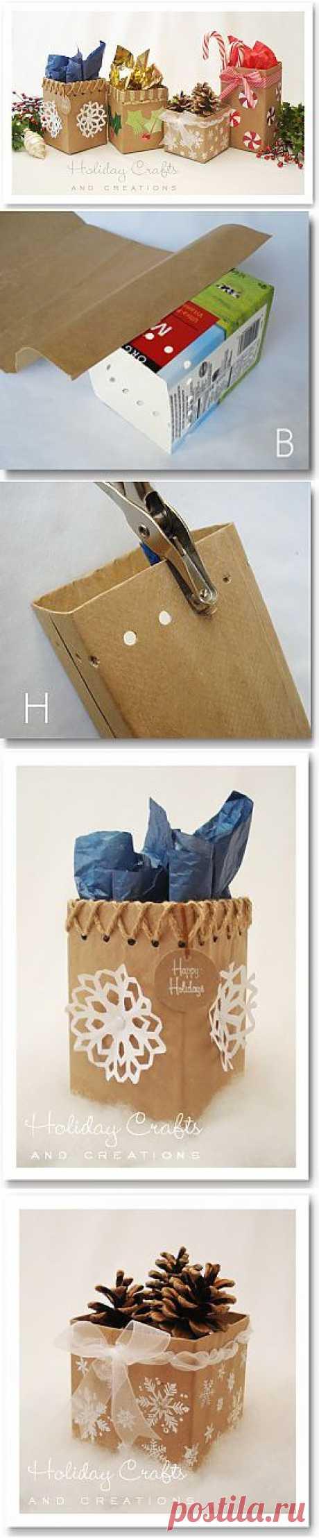 Новогодние корзинки для подарков.