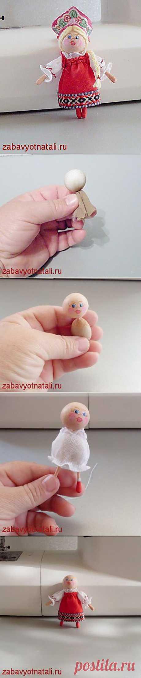 Мастер-класс по маленькой куколке | Забавы от Натальи