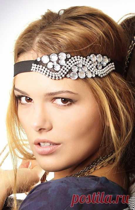 Красивая повязка на голову / Украшения для волос / ВТОРАЯ УЛИЦА