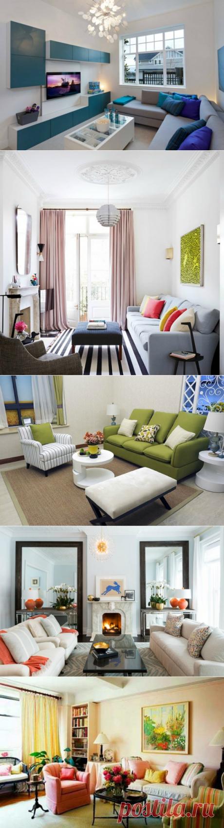 Оформляем гостиную: 17 вариантов