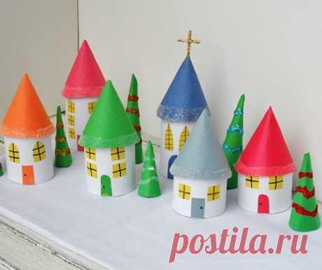 «Домик из картона : жилище гномика» — карточка пользователя Мария Н. в Яндекс.Коллекциях
