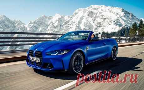 Кабриолет BMW M4 Competition 2022 впервые получил полный привод M xDrive
