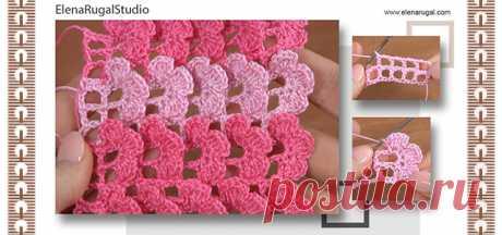 Вязание крючком 3D-цветочные узоры