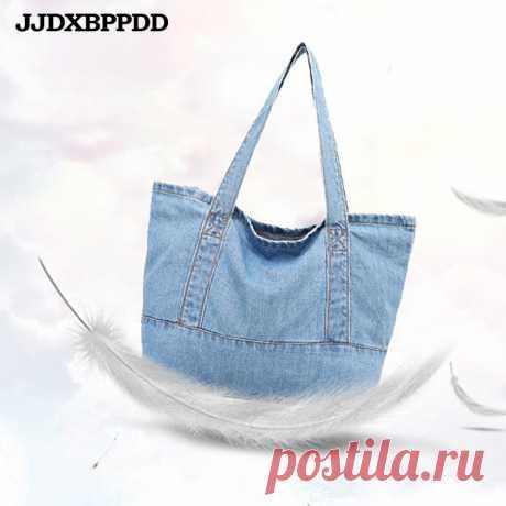 Женская джинсовая сумка на плечо JJDXBPPDD, повседневная сумка через плечо, джинсовая сумка