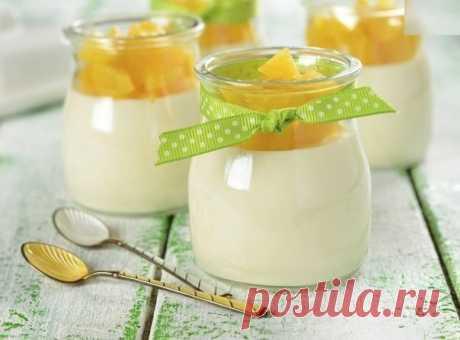 Рецепт классического молочного желе.