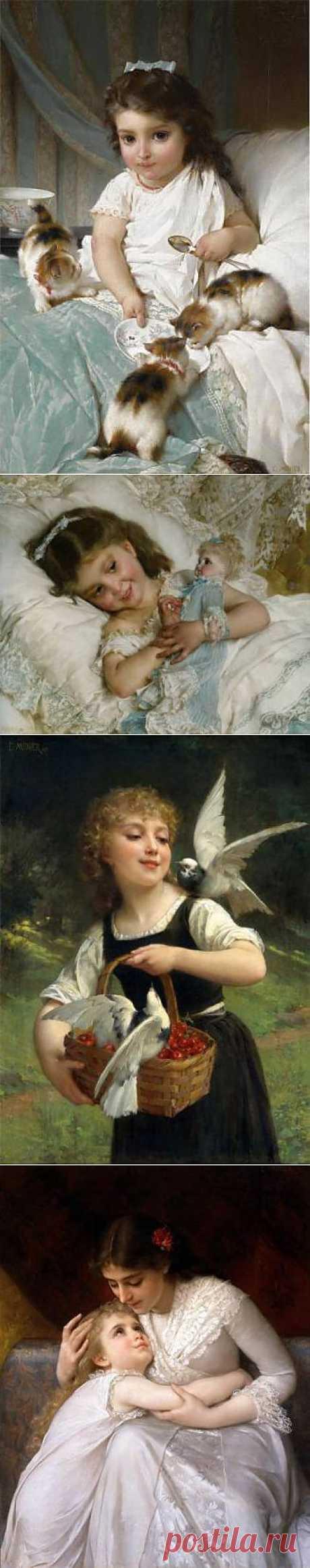 Дети на картинах Emile Munier - Галерея искусств - Для души - Статьи - Школа радости