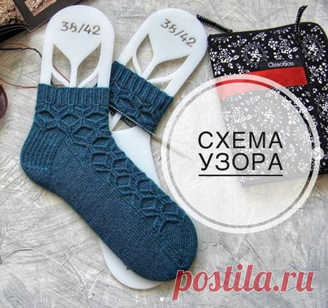 Красивые носки. Схема   Узоры от Авроры   Яндекс Дзен