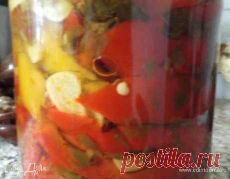 Консервированный перец «За уши не оттянуть». Ингредиенты: перец болгарский, чеснок, укроп свежий | Едим Дома кулинарные рецепты от Юлии Высоцкой