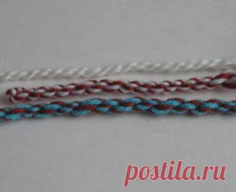 Плетение шнуров из ниток различными способами   Журнал Ярмарки Мастеров